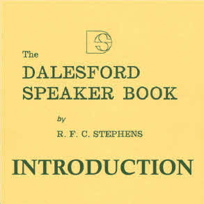 Dalesford Speaker Book System Introduction