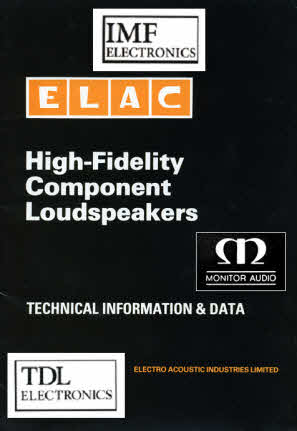 TDL & IMF Drive Units ELAC Datasheet - The Falcon Acoustics