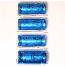 Alcap 7.50uF Low Loss 50VDC Electrolytic Capacitor