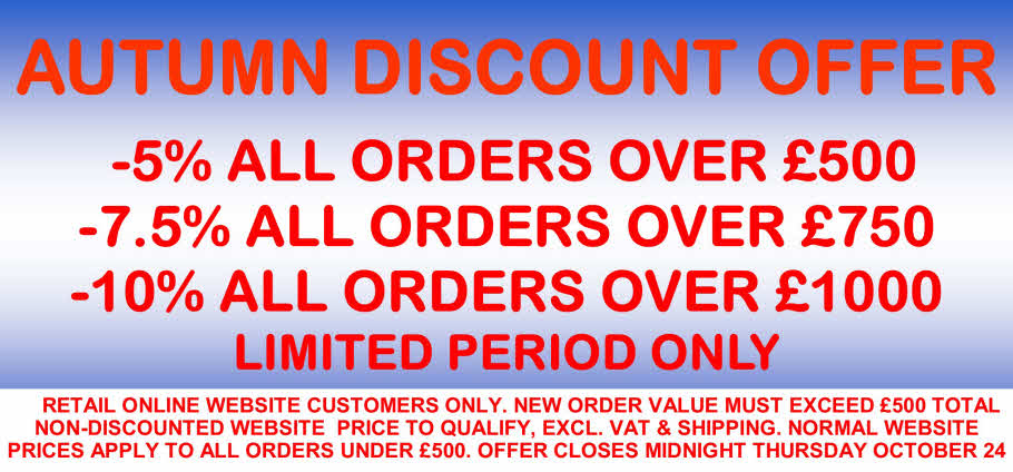 FORGET THE AUTUMN BLUES WITH OUR DISCOUNT OFFER!