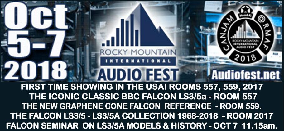 ROCKY MOUNTAIN AUDIO FEST DENVER OCT 5-7