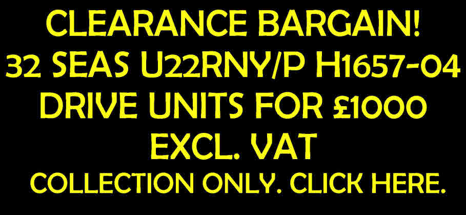 SEAS U22RNY/P H1657-04 WOOFER * CLEARANCE * HUGE SAVING