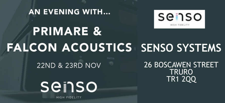 FALCON WILL BE AT SENSO SYSTEMS TRURO 22/23 NOV. - LIVE DEMOS.