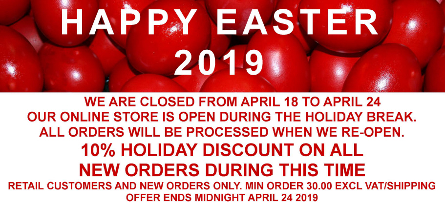 10% DISCOUNT EASTER 2019 HOLIDAY OFFER